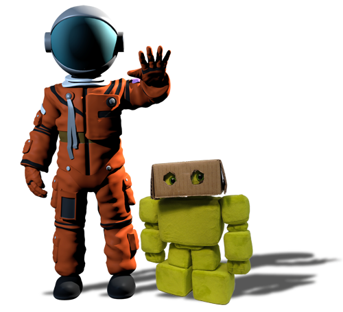 The astronaut and the robot