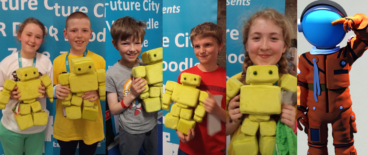 Teddybots soft toy competition winners at the RDS