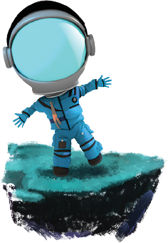 Astronaut on a rock
